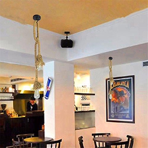 Sparkling FRD American Retro-Einfachheit kreative Persönlichkeit Restaurant Café-bar Hanf Arbeitskleidung Shop Kronleuchter,2 * H100cm