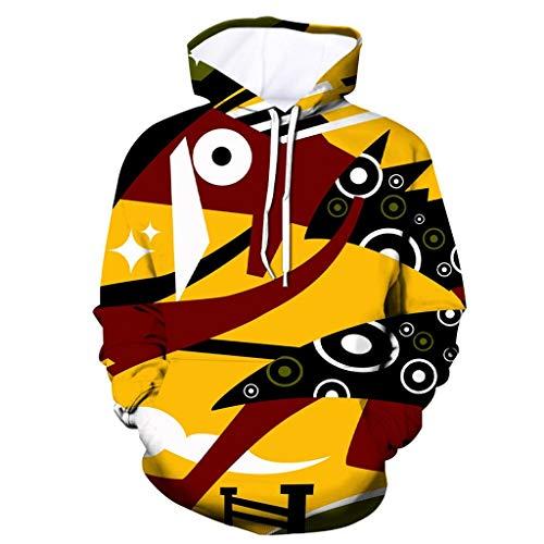 Tosonse 3D Print Hoodies Mens Beängstigend Halloween 3D Print Mit Kapuze Party Langarm Hoodie Bluse Sweatshirt