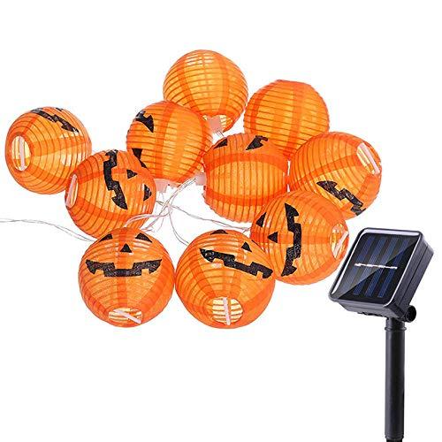 Ourleeme luci stringa lanterna, 20 led 5m fata zucca zucca solare decorazione impermeabile per halloween, natale, giardino, patio, festa, cortile (grande zucca)