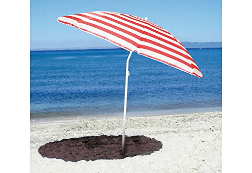 Pinolino Sonnenschirm Sunny, Durchmesser 153 cm, Höhe 180 cm, stufenlos höhenverstellbar, bis 45° neigbar, Streifen rot/weiß
