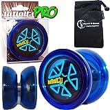 Infinity BLAZE Pro YoYo Set (Blue)- Professional Ball Bearing String Trick Yo-Yo & Travel Bag!