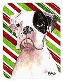 Caroline 's Treasures Cooper Candy Stripe Boxer Weihnachten Maus Pad/Hot Pad/Untersetzer (rdr3002mp)
