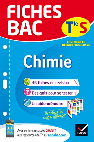 Fiches bac Chimie Tle S (enseignement spécifique): fiches de révision Terminale S par Nathalie Benguigui