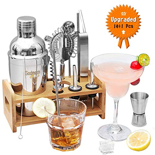 Godmorn Cocktail Set 14+1 Pcs, 5...