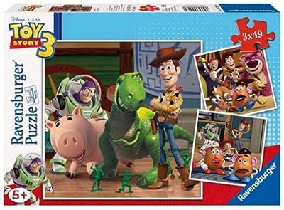 Ravensburger 9297- Puzzle infantil de Toy Story 3 (3 x 49 piezas) de Ravensburger