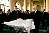 Vintage photo of Jacques Chirac attended a memorial ceremony for Claude Erignac.