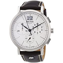 Bruno Söhnle Men's Quartz Watch Lagograph 17-13112-241 with Brown Leather Strap