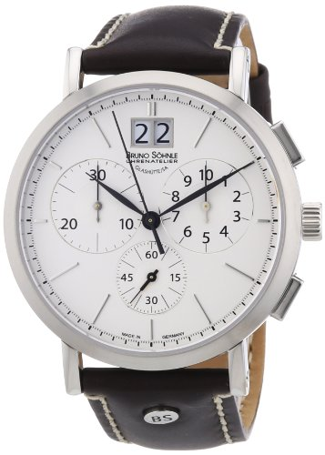 Bruno Söhnle Herren-Armbanduhr XL Lagograph Chronograph Quarz Leder, Braun, 17-13112-241
