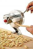 """Maschine für die manuelle Herstellung von """"Gnocchetti""""Aus Stahl verchromt und Kunststoff zertifiziert lebensmittelecht.Schnell zu Montieren und Demontieren, ist praktisch auch für die ReinigungSie Brauchen keine Chemikalien oder die Spülmaschine.in wenigen Minuten haben Sie """"Gnocchetti"""" hergestellt"""