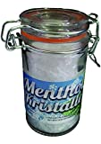 30 g menthol crystals in decorative jar, 100% natural, made from pure mint oil