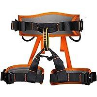 Arnés de escalada de la cintura del asiento de Protección de la cadera de la correa del cinturón de seguridad del Consejo de Medio Árbol de escalada, alpinismo, rapel, escalada deportiva-naranja