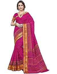 Aarti Apparels Women's Designer Cotton Saree_Pink_CRYSTAL-6220