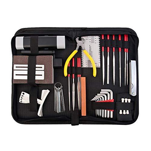 B Blesiya 1 Establecer Herramientas de Mantenimiento de Reparación para Guitarra para Principiantes Producción Instrumentos Musicales