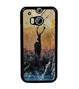 PrintDhaba Deer D-4873 Back Case Cover for HTC ONE M8s (Multi-Coloured)