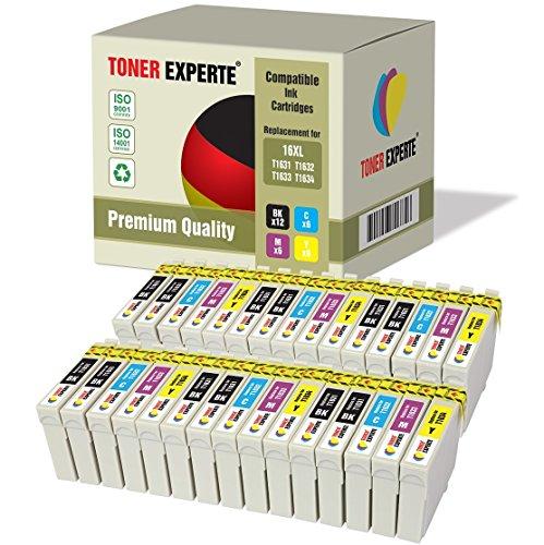 Kit 30 XL TONER EXPERTE Cartucce d'inchiostro compatibili con Epson 16XL Workforce WF-2010W, WF-2510WF, WF-2520NF, WF-2530WF, WF-2540W, WF-2540WF, WF-2630WF, WF-2650DWF, WF-2660DWF, WF-2750DWF
