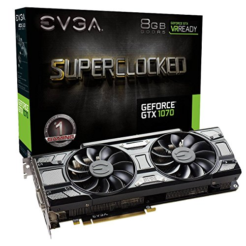 Evga GeForce GTX 1070 SC Gaming - Tarjeta Grafica (8 GB, GDDR5, ACX 3.0) Color...