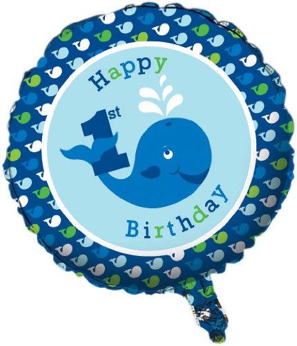 Creative Converting Ocean Preppy Jungen ersten Geburtstag metallic Mylar Ballon