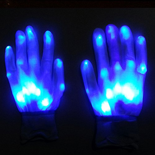 iiniim LED Gloves  Flashing Glow Light Up LED Light Gloves for Party Game Favor Colorful Party Dance Birthday Disco Clubs