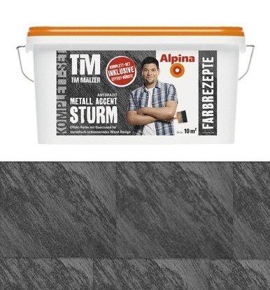 Farbrezepte Metall Accent Sturm Anthrazit, 1 L. Effektfarbe Quarzsand