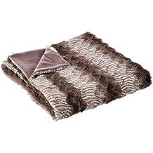 Manta de sofá étnica marrón de poliéster para dormitorio ...