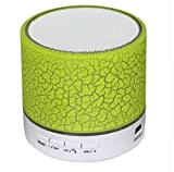 Bluetooth Lautsprecher, Queta Mini Beweglich Crack Wireless Bluetooth TF USB Aux LED Lautsprecher Sound Box Subwoofer mit Mikrofon für iPhone, iPad, Samsung, Laptops USW. (Grün)