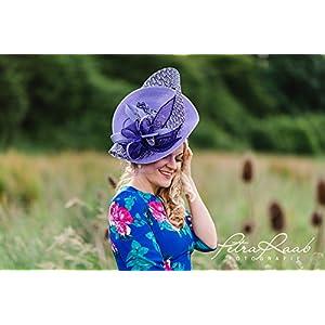 Hut Royal Ascot hat Ballhut Kentucky- Derby hat Pferderennen couture Millinery Sinamay hat Hochzeit Fascinator U52