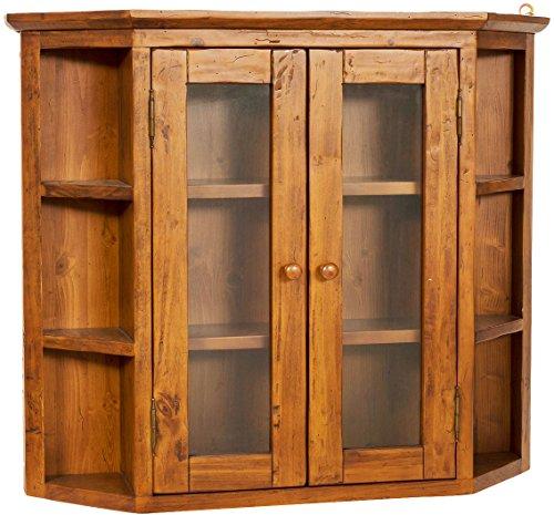 Display-cabinet-solide-Holz-hngenden-cant-Sekretr-der-Linden-Walnuss-beenden