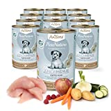 AniForte® PureNature Hundefutter Junior Zartes Huhn 12 x 400g - Naturprodukt für Hunde