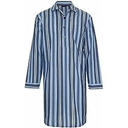 Champion Westminster Chemise de Nuit en Polycoton rayé (Navy) 4XL