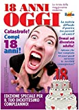 Biglietto compleanno auguri rivista settimanale 18 anni amica
