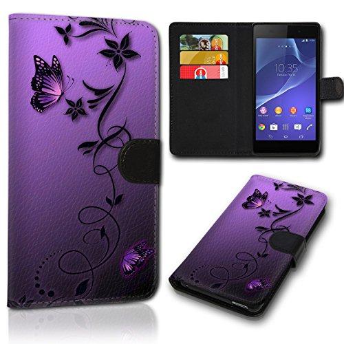 Book Style Wiko Sunny 2 Plus Tasche Flip Brieftasche Handy Hülle Kartenfächer für Wiko Sunny 2 Plus - Design Flip SVH1235