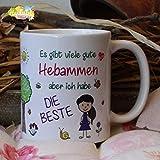Kaffeebecher ~ Tasse - Es gibt viele gute Hebammen -Danke ~ Weihnachten Geburt Baby Geschenk