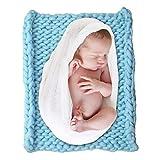 Mallalah Babydecke Kuscheldecke Krabbeldecke Kinderwagendecke Geschenk zur Geburt Chunky Garn Decke Stricken Werfen Sofa Decke Bett Haustier Matte