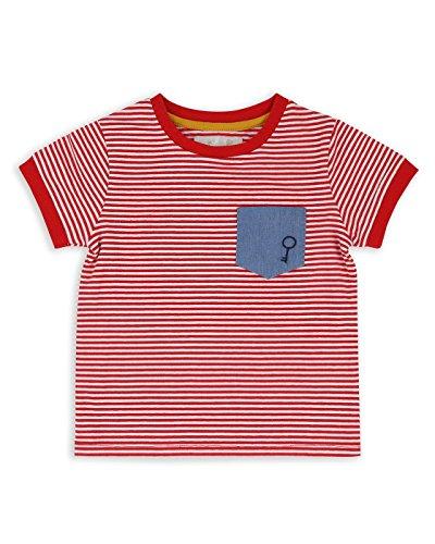 The Essential One - Baby Kinder Jungen T-Shirt Kurzarm Gestreift - Rot/Weiß - 3-4 jahre - EOT401 (Rot Gestreiften Und Herren Weiß Hemd)
