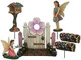 Parva Garden Fairy Garden Kits for Girls - Miniature Fairy Garden Accessori per mini giardini all'aperto o al coperto Include sei (6) pezzi