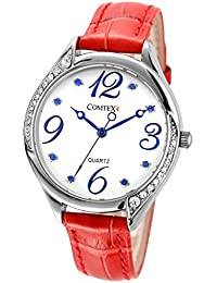 Amazon.es  Rojo - Relojes de pulsera   Mujer  Relojes 49a94f75c426