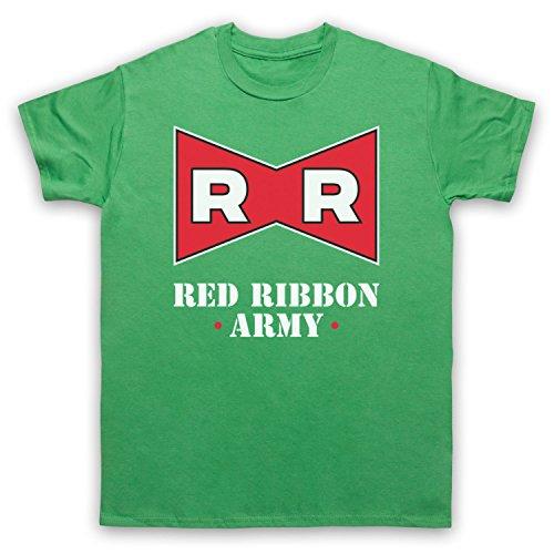 Dragon Ball Z Red Ribbon Army Herren T-Shirt Grun