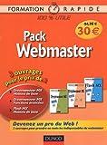 Pack Webmaster 3 volume : Tomer 1 : Dreamweaver MX Fonctions de Base ; Tome 2 : Dreamweaver MX Fonctions avancées ; Tome 3 : Flash MX Notions de Bases...