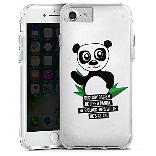 Apple iPhone X Bumper Hülle Bumper Case Glitzer Hülle Phrases Sayings Sprüche Bumper Case transparent