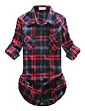 Match Damen Flanell Kariert Shirt #B003(2021 Checks#15,X-Large(Fit 40''-42''))