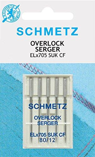 Schmetz - Agujas para máquinas de coser Overlock ELx705CF 80/12SUK (Jersey)