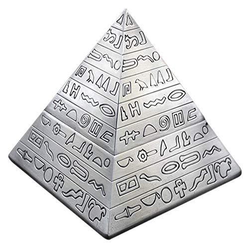 Kreatives Pyramiden-Design Retro Aschenbecher mit Deckel Schreibtisch