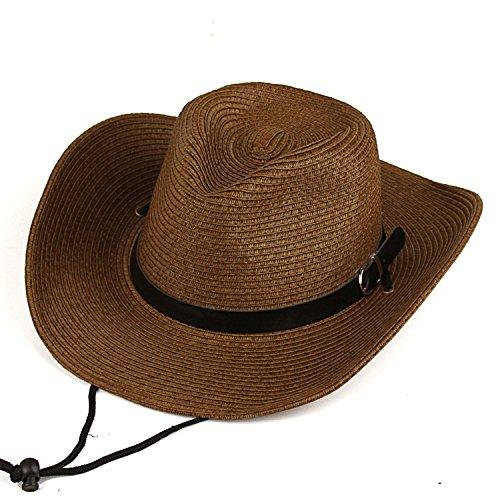 h Hut Kann Der Strand Cap Falten Im Sommer, Kaffee (Stroh-hüte Für Männer)
