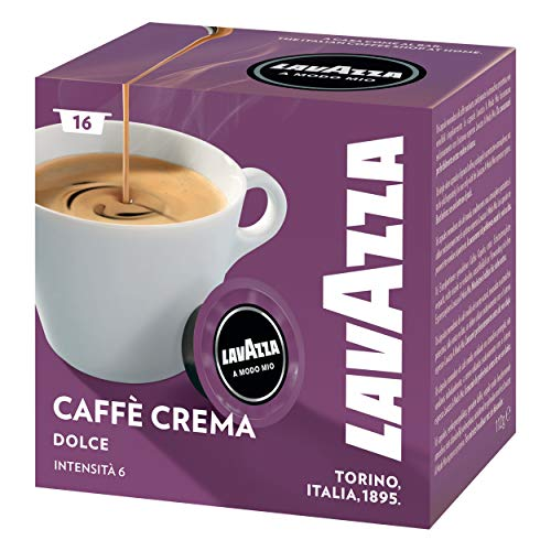 Lavazza A Modo Mio Lungo Dolce, Kaffee, Kaffeekapseln, Arabica, 80 Kapseln, 5er Pack