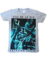 Official T Shirt Mens YOU ME AT SIX Band LIVE PHOTO Grey All Sizes
