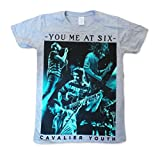 You Me At Six Official T Shirt Mens Band LIVE PHOTO Grey