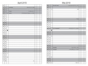 X17 Recharge agenda A6 calendrier dépliant (Leporello) 2014