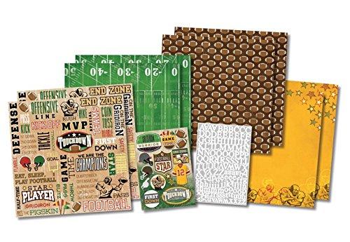 Karen Foster Design Heritage Seite Scrapbooking Kit, 30,5x 30,5cm, Football Star, 12  x 12  Inch