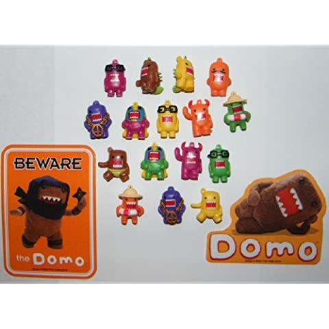 Domo Figure Charms 16 Colored Figures with Special Domo Stickers by Domo