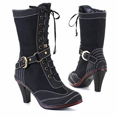 Woman's Shoes, Boots, Synthetic high-quality leather look, 615, black, size 7